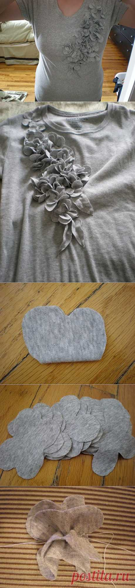 Для вдохновения, цитатник: Украшаем трикотажную блузку своими руками
