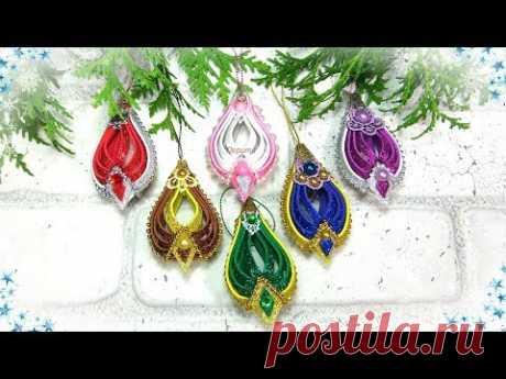 🎄 Ёлочные игрушки своими руками из фоамирана 🎄 diy christmas ornaments glitter foam