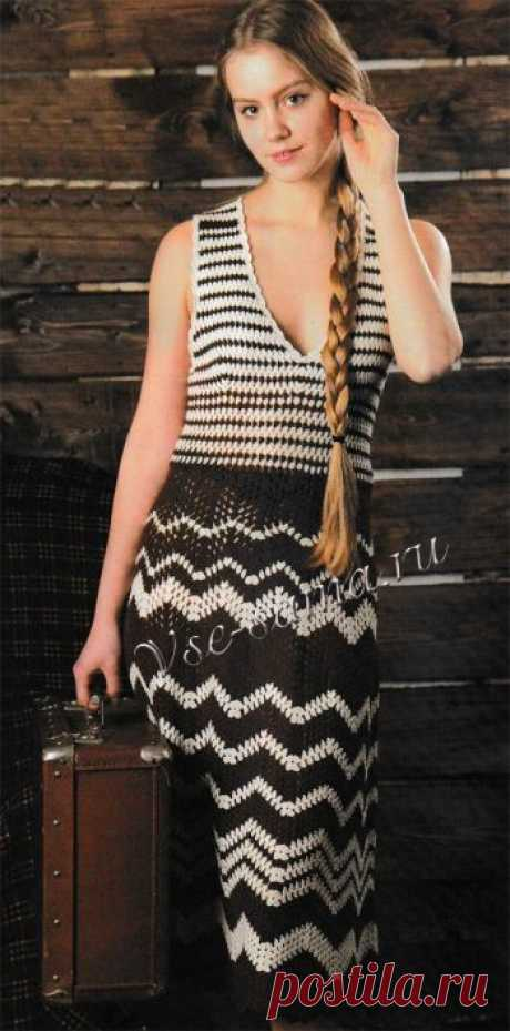Платье Ретро - Платья, сарафаны крючком