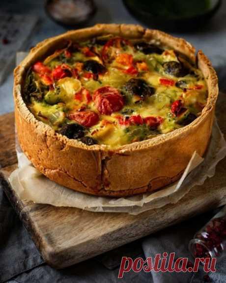 Открытый пирог с овощами ⠀