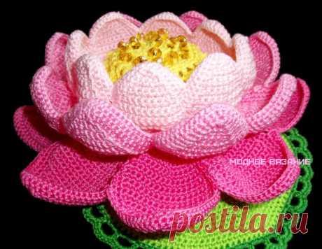 Кувшинка крючком - Модное вязание