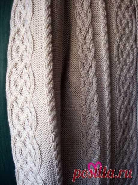 Комфортный и теплый свитер. Спицы.