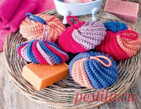 Губки для ванной - схема вязания крючком. Вяжем Все для дома на Verena.ru