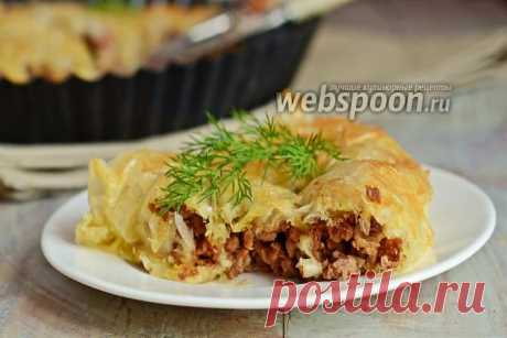 Пирог из теста фило с мясным фаршем рецепт с фото, как приготовить на Webspoon.ru