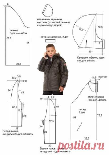 Выкройка детской куртки для мальчика