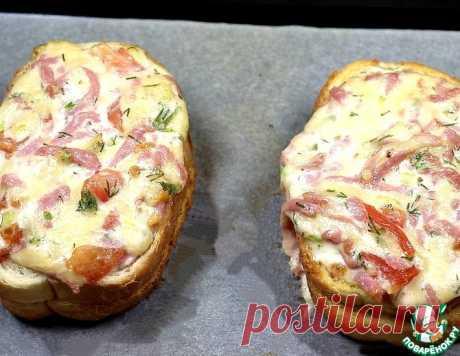 Горячий бутерброд-пицца – кулинарный рецепт