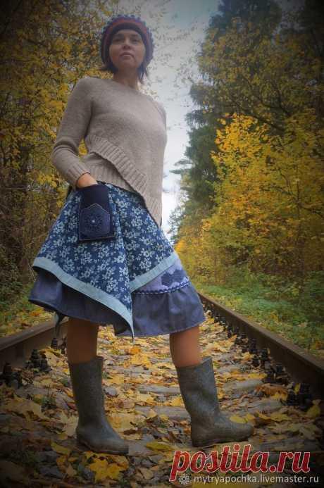 Шьем юбку в бохо стиле Сразу хочу оговориться — это не вполне мастер-класс. Это про то, как я шила себе юбку :) Но если кто-то почерпнет что-то полезное из моего фотоотчета, мне будет приятною. Итак, материалы.