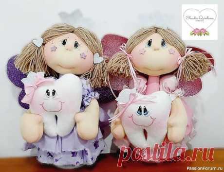Текстильная куколка- зубная фея (из интернета)