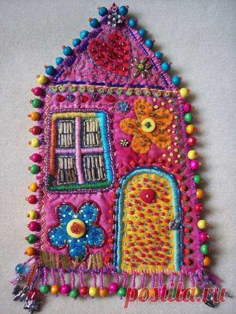 Текстильные домики: такие милые и уютные – Ярмарка Мастеров
