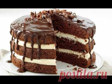 Невероятно вкусный шоколадный торт! (рецепт) - YouTube