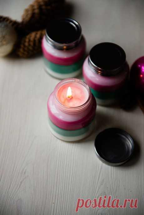 Ароматные слоеные свечки