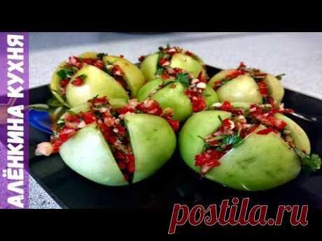 ЗЕЛЕНЫЕ ПОМИДОРЫ ХОЛОДНОГО ПОСОЛА  / зима /  salted green tomatoes /