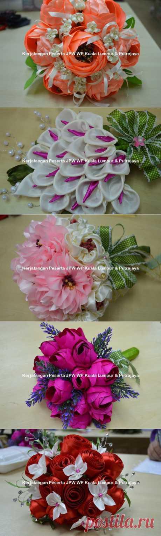 Цветы из ткани от Suzana Mustafa