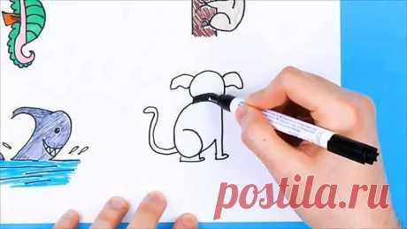 Простые трюки для рисования! Красивые вещи своими руками!