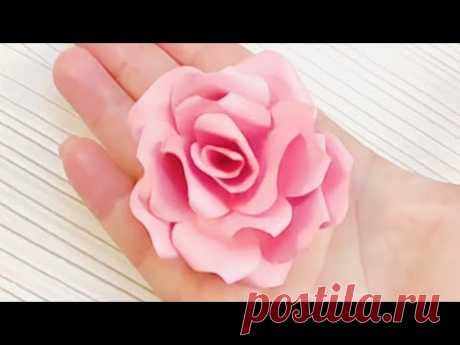Мастер-класс: Как сделать бумажные розы своими руками - YouTube