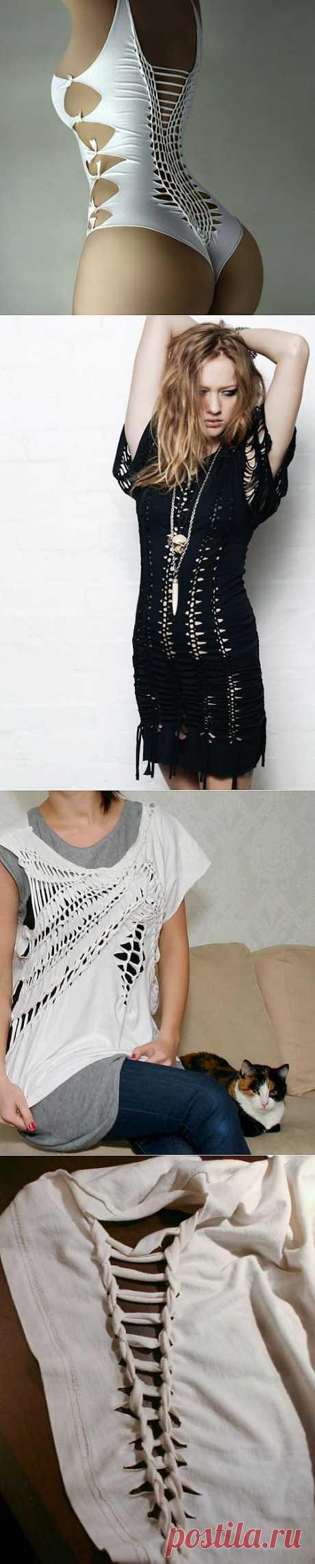Переделка одежды. Плетение футболок. Это что-то!!!.