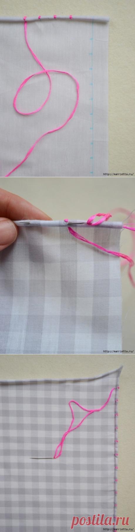 Красивая обработка края кухонного полотенца без помощи швейной машинки