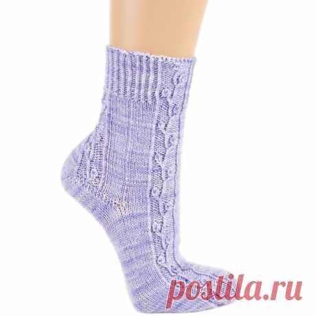 Носки с растительным узором - схема вязания спицами. Вяжем Носки на Verena.ru