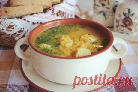 Суп куриный с желтой чечевицей | Русская кухня