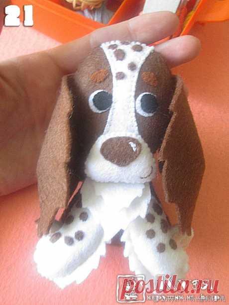 Шьем из фетра собаку породы спаниель