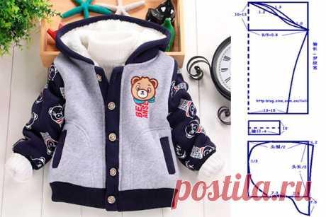Molde para hacer una chaqueta para niño