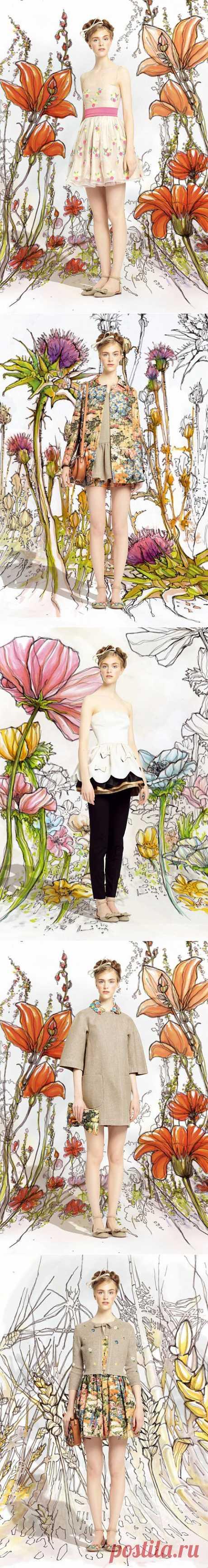 (+1) тема - Коллекция сезона весна-лето 2014 от Red Valentino | Мода