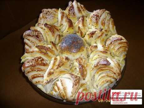 Необычный способ разделки пирога или хлеба..