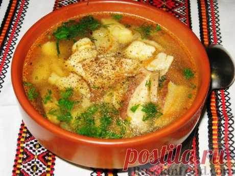Рецепт: Суп с белыми грибами и картофельными галушками на RussianFood.com