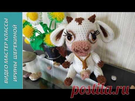 Телочка Милка, ч.3. Little cow Milka, p.3. Amigurumi. Crochet. Вязать игрушки, амигуруми.