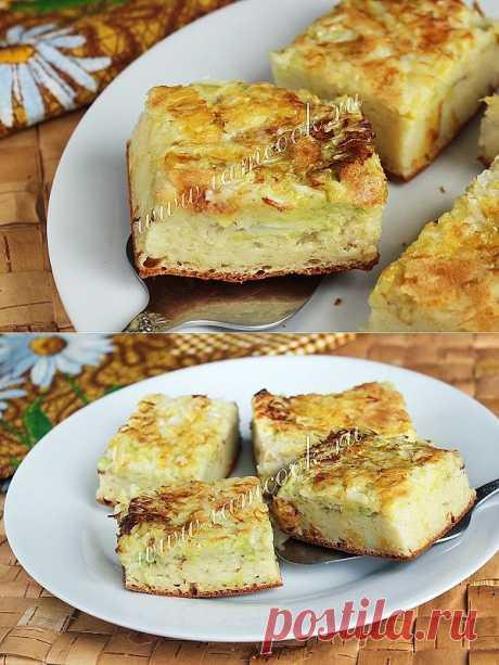 Заливной пирог с капустой, рецепт с фото.