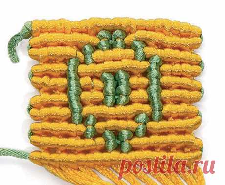 Элемент «кавандоли» («гобеленовое плетение») — Макраме