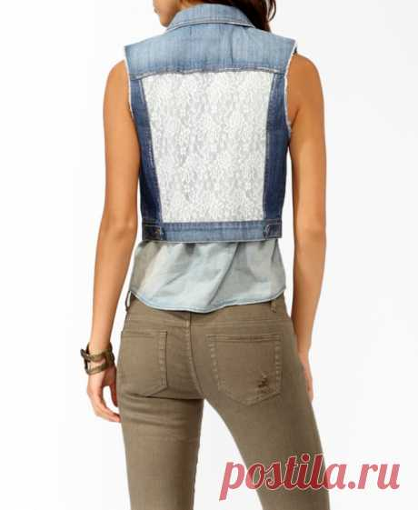 Decor of jeans vests (selection)