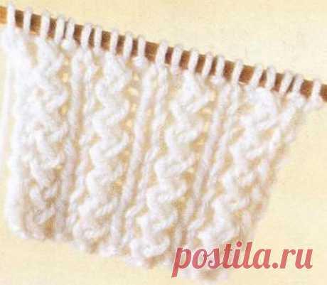 Интересная резинка (вязание на спицах) | Журнал Вдохновение Рукодельницы
