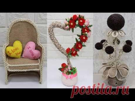 9 Jute craft ideas | Home decorating ideas | Jute showpiece idea