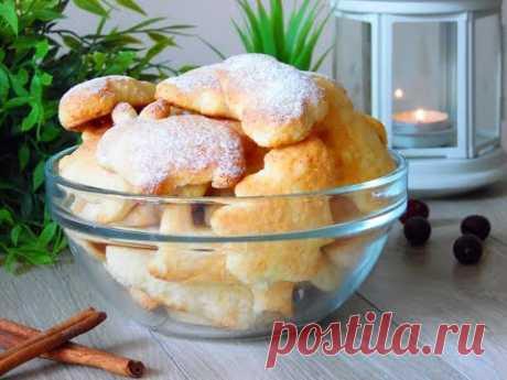 Творожное печенье, не ожидала, что оно получится такое вкусное и нежное!   Вкусная история   Яндекс Дзен