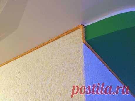 Лучший плинтус для натяжного потолка - мнение дизайнера | Дизайнерский ремонт👷 | Яндекс Дзен