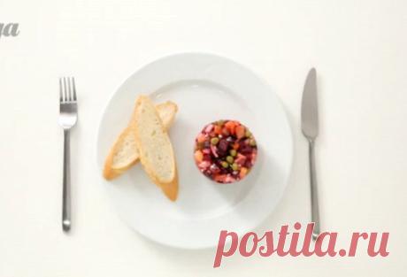 Винегрет из запеченных овощей с квашеной капустой пошаговый рецепт с видео и фото – русская кухня, веганская еда: салаты