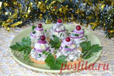 Закуска из кальмаров на праздничный стол: фото рецепт