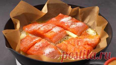 Идеальный способ вкусно приготовить рыбу. Рыба на бумаге!   Всегда Вкусно! Видео рецепты   Яндекс Дзен