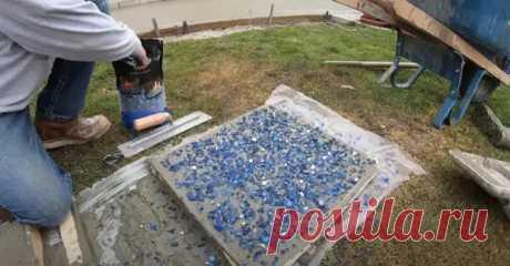 Как сделать плитку из стеклобетона. Подойдет для оформления садовых дорожек и уличных площадок - Сам себе мастер - медиаплатформа МирТесен