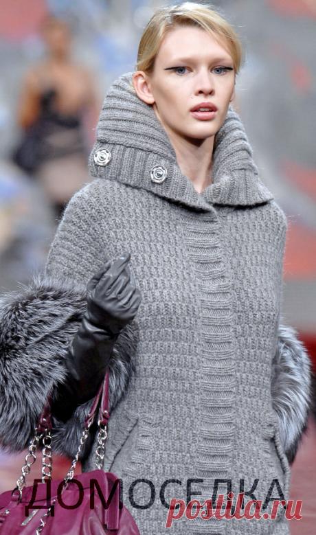 Шикарное вязаное пальто   ДОМОСЕДКА