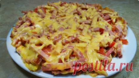 Вкусная картофельная пицца на сковороде за 10 минут