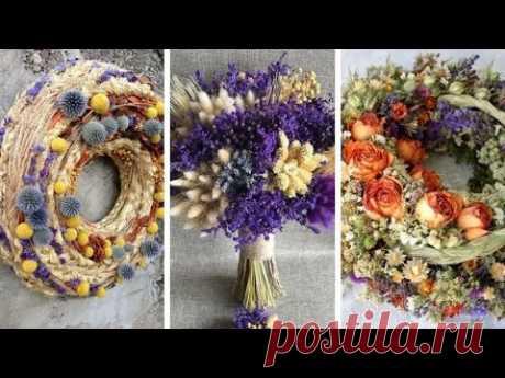 Роскошные украшения для дома с сухоцветами 55 осенних идей
