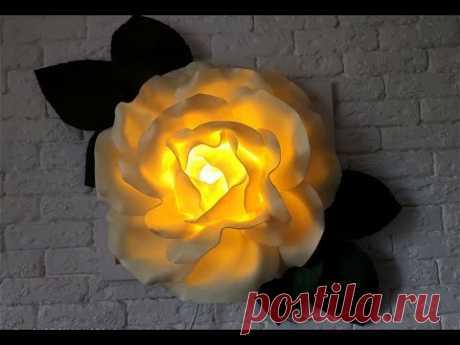 Светящаяся 3Д картина 😅 Роза из изолона