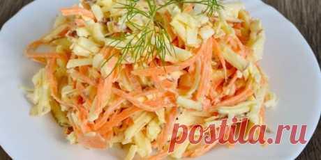 Салат с морковью и сыром - приготовление со свеклой, яйцами, яблоком, чесноком и майонезом