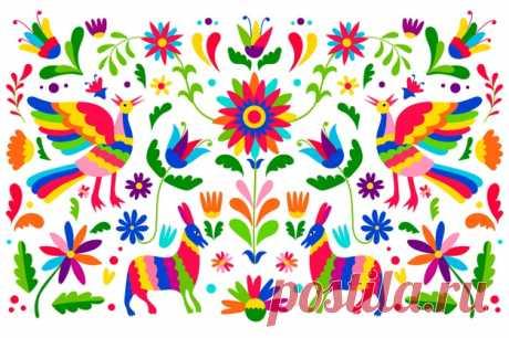 Descarga gratis Diseño plano colorido fondo mexicano Descubre miles de vectores gratis y libres de derechos en Freepik