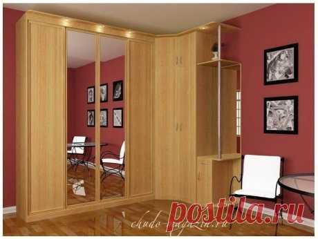 Угловой шкаф с распашными дверцами в спальню или гостиную фото, заказ, замер, гарантия