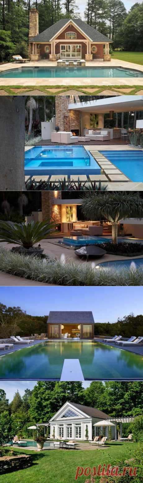 Прекрасные домики у бассейна