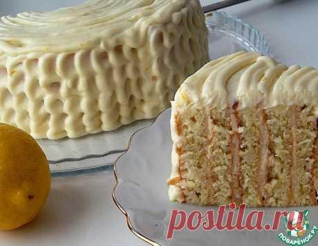 Итальянский лимонный торт с вертикальными коржами