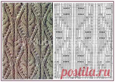 Красивые ажуры, араны | Ажурные | Вязание спицами и крючком. Схемы вязания.